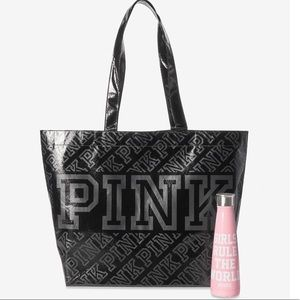 Pink bag and S'well water bottle!